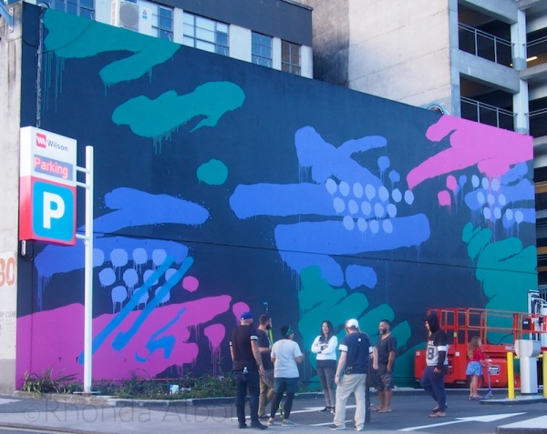 Artist Askew One at the All Fresco Art Festival on K Road, Auckland New Zealand