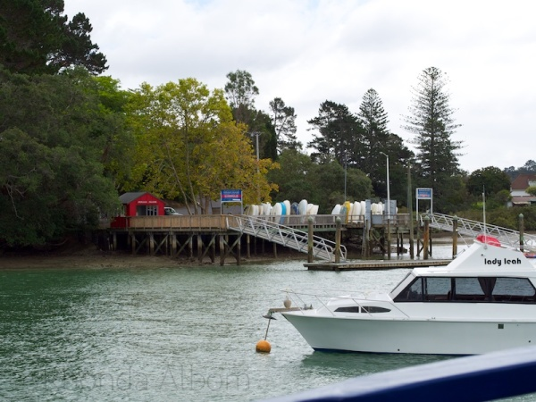 Herald Island, as seen from the Red Boats, Auckland New Zealand