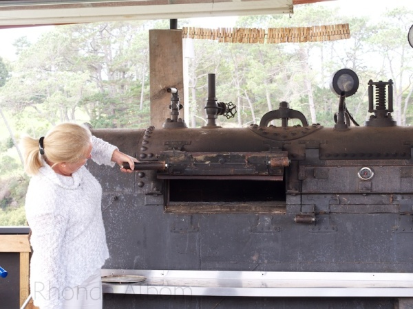 The owner showed us around, including the wood fire pizza oven. (I hope to try a Pizza on a Sunday afternoon)
