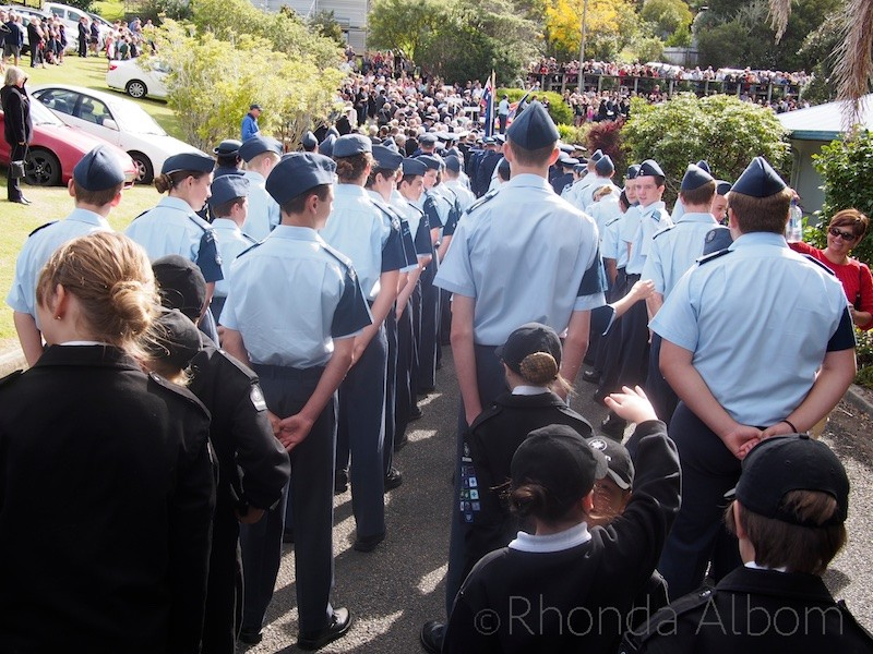 Lined up for the ANZAC Day Parade at the Silverdale RSA, Auckland New Zealand