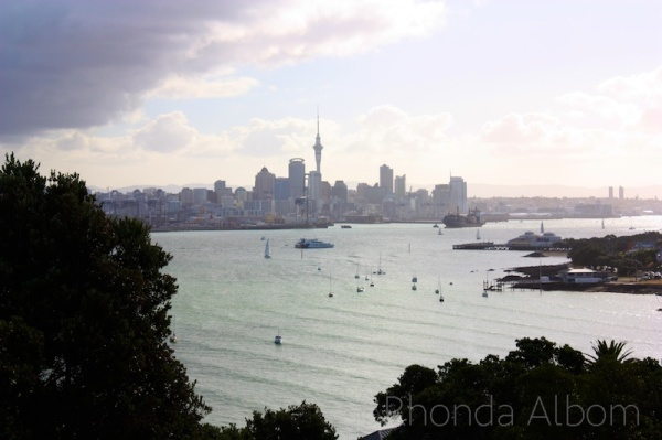 A view of Auckland City from Mt. Victoria in Devonport, New Zealand