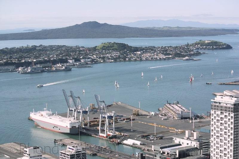 View of from the top of the Sky Tower, Auckland New Zealand