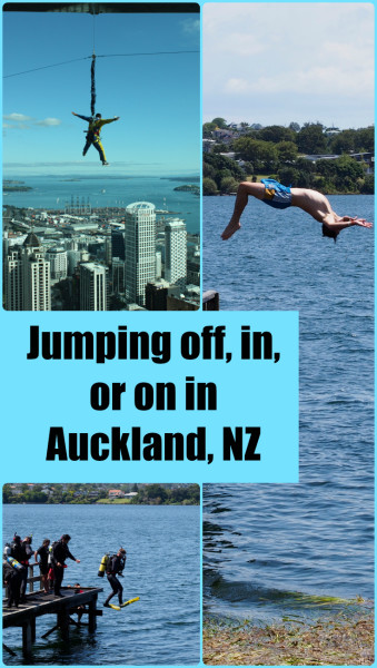 Jumping in, Jumping on, Jumping off around Auckland New Zealand. For more information visit albom Adventures