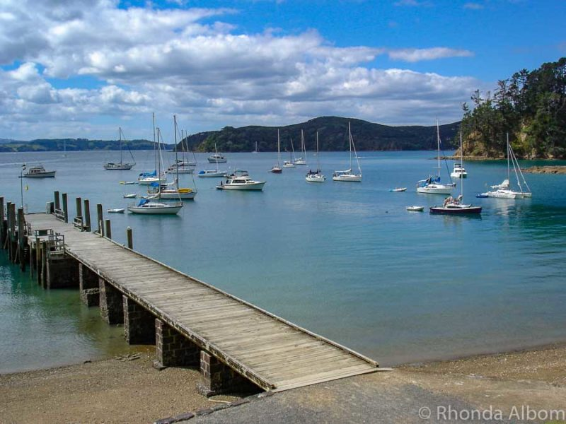 The pier on Kawau Island in the Hauraki Gulf New Zealand