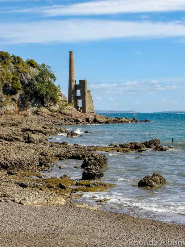 The old copper mine on Kawau Island in the Hauraki Gulf New Zealand