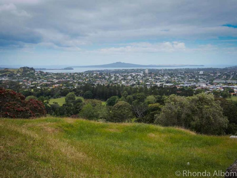 View to the north from One Tree Hill in Auckland, New Zealand