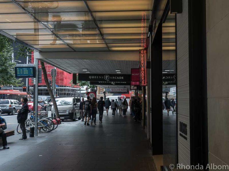 Queens Arcade on Queens Street in Auckland New Zealand