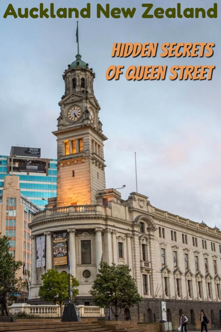 A haunted hotel, a leaning building, an underground creek, these are just a few of the mysteries discovered on this self-guided walking tour of Queen Street, the centre of life in Auckland New Zealand. #Auckland #NewZealand #QueenStreet #Haunted #Mystery
