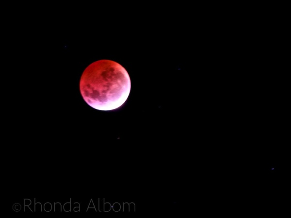 Blood moon in New Zealand on April 4 2015