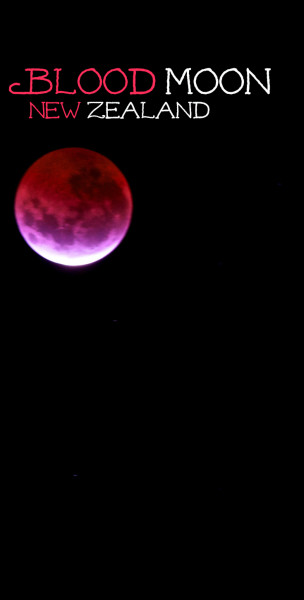 The Blood Moon over Shakespear Park, New Zealand. Is it beautiful? Or is it the apocolypse?