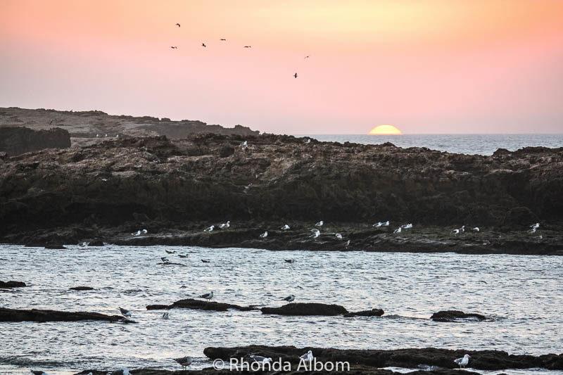 Sunset in Essaouira Morocco