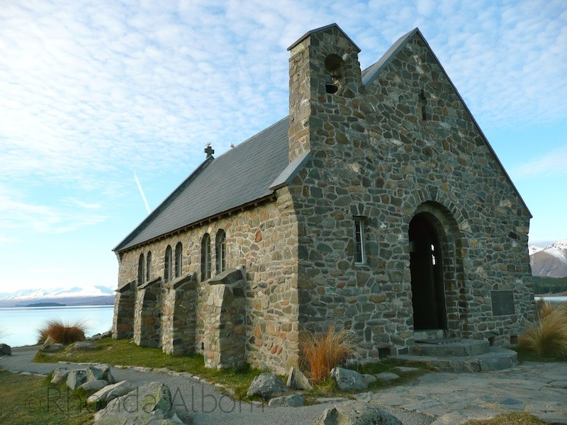 Church of the Good Shepard on the shores of Lake Tekapo New Zealand