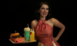50s waitress at the Very Vintage Day Out, Alexandra Park Raceway, Auckland, New Zealand - Photograph copyright Sarah E. Albom 2015
