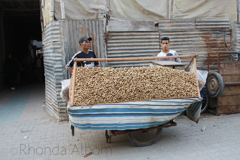 Fresh roasted peanuts are available in theMedina in Essaouira Morocco 1 (1)