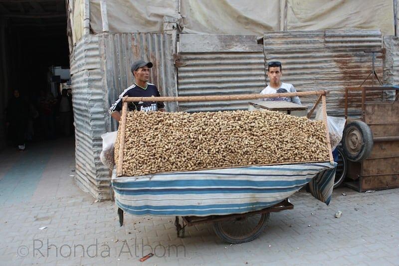 Fresh roasted peanuts are available in theMedina in Essaouira Morocco 1 (1)
