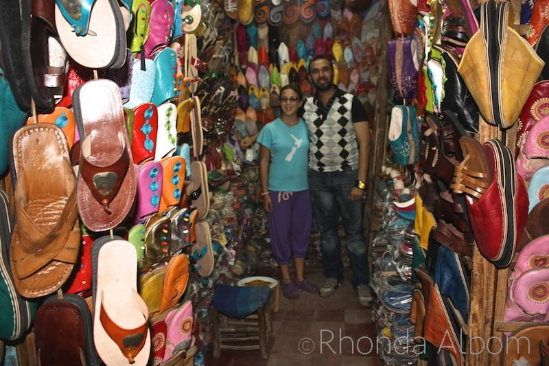 Shopping for Shoes in the Medina of Essaouira Morocco