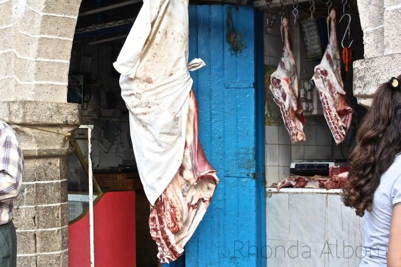 A butcher in Essaouira Morocco