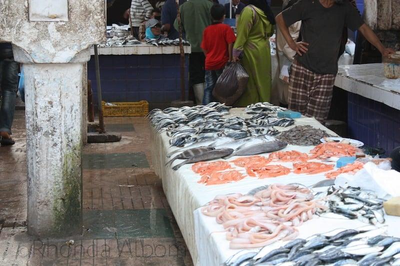 A Fish Market inside the Medina of Essaouira Morocco