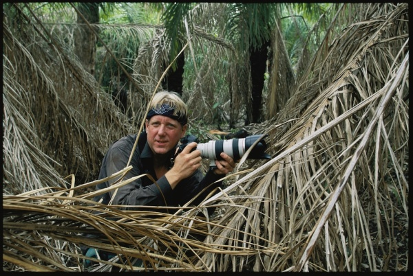 National Geographic Photographer Steve Winter in the wild waits to photograph a jaguar