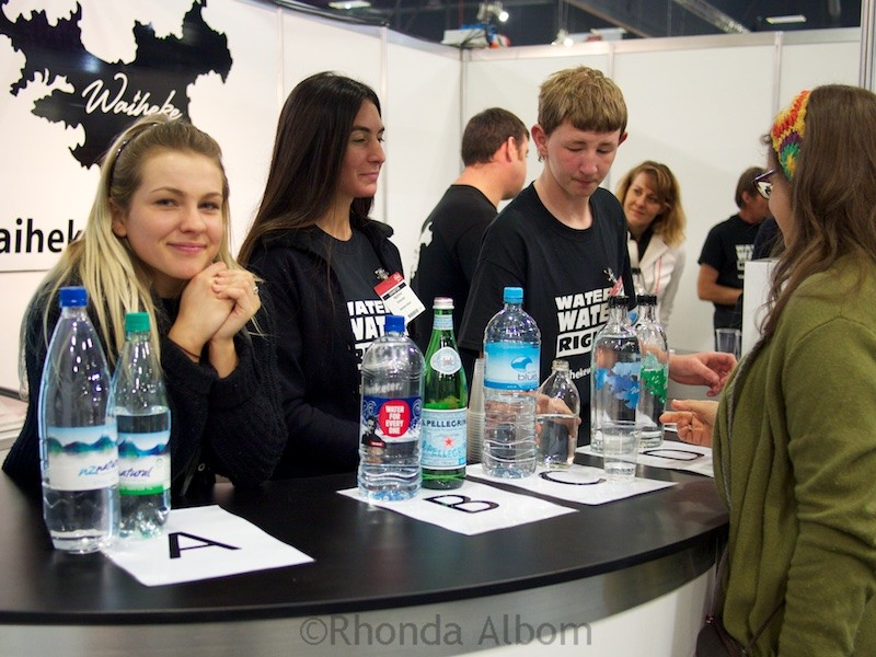 Waiheke Water at the Auckland Food Show 2015, New Zealand