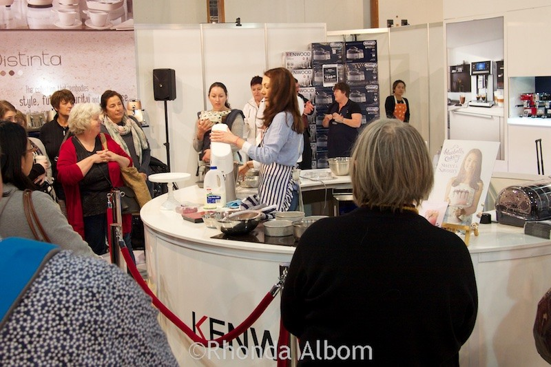 Kenwood food demonstration at the Auckland Food Show 2015, New Zealand
