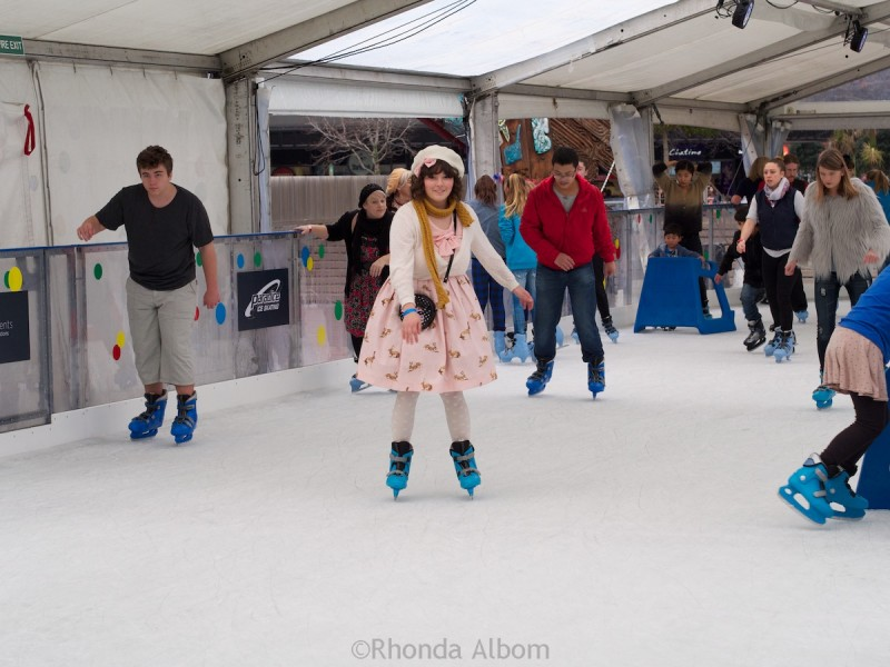 Auckland Ice Skating in Aotea Square, New Zealand