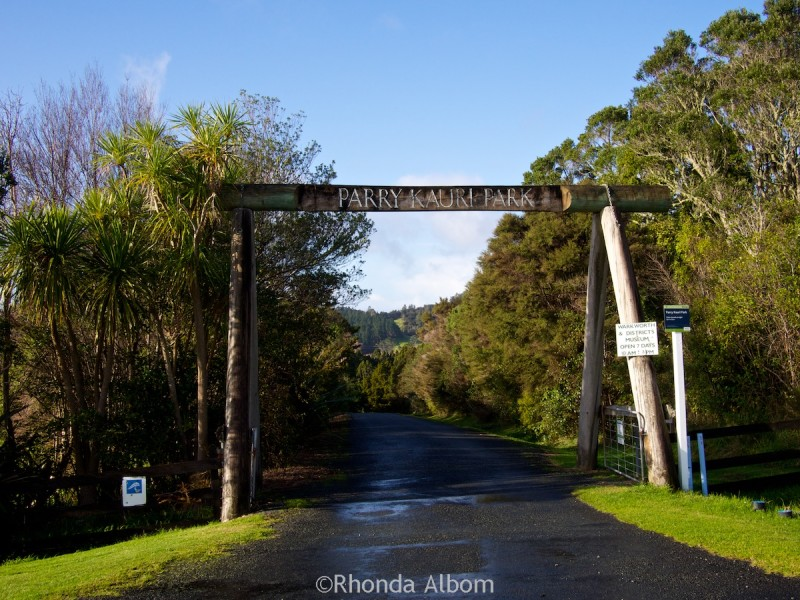 Entrance to Parry Kauri Park, Warkworth, New Zealand