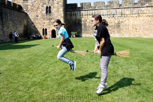 Broomstick Flying in Alnwick Castle England