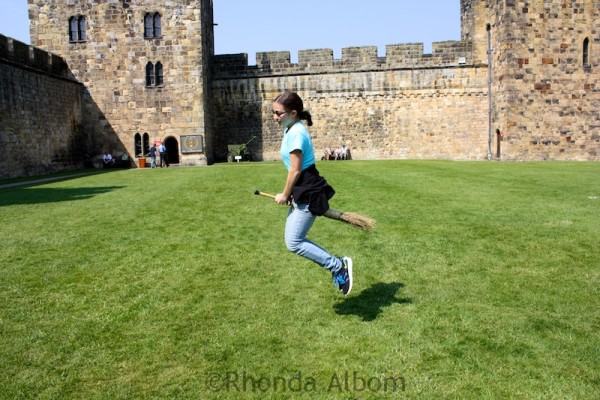 broomstick flying at Alnwick Castle where Harry Potter learned to fly
