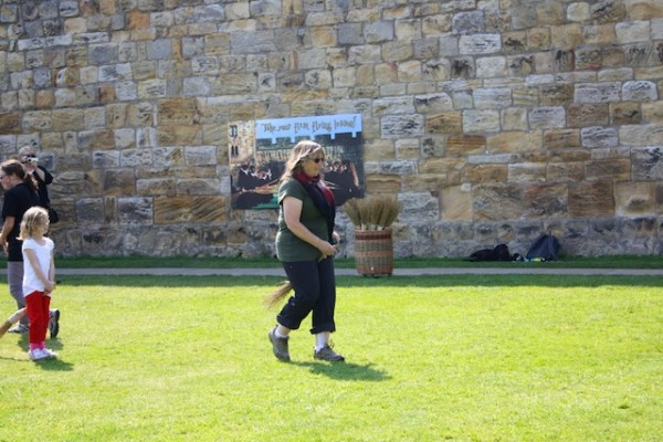 broomstick flying  fail at Alnwick Castle where Harry Potter learned to fly