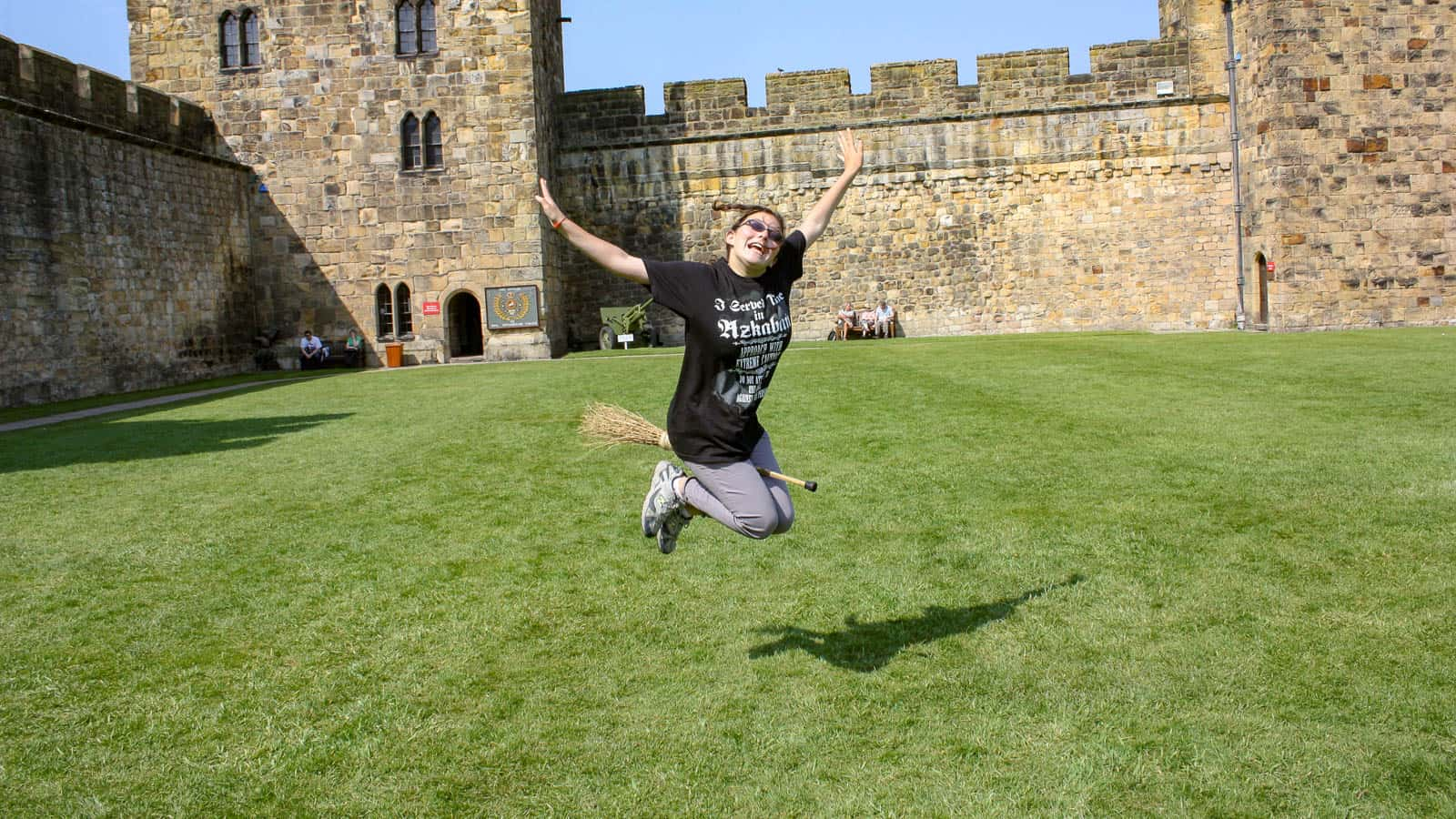 Broomstick Flying Lessons at Alnwick Castle in England