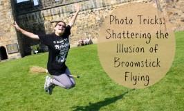 broomstick flying photo tricks