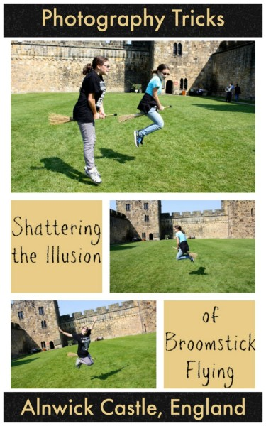 Simple photography tricks to give the illusion of broomstick flying like Harry Potter