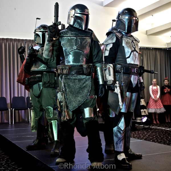 Team entry in the costume contest at Aethercon Steampunk Convention 2015 Auckland New Zealand