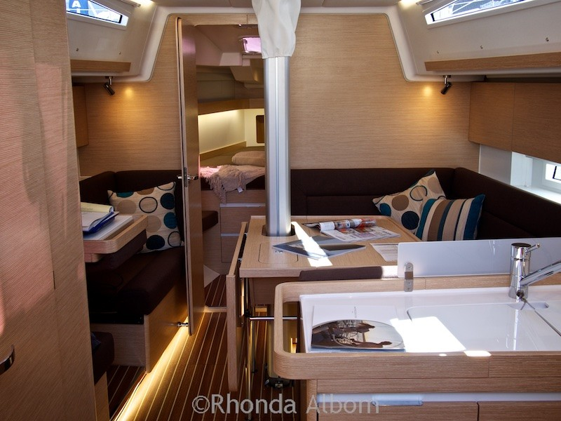 On-board a mono-hull at the Auckland Boat Show 2015 - New Zealand