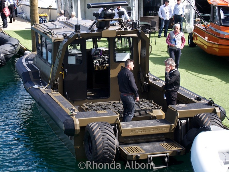 Sealegs IKA11 amphibious craft introduced at the Auckland Boat Show 2015 - New Zealand