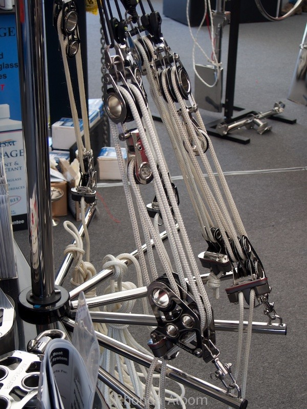 Ropes and pullies at the Auckland on the Water Boat Show 2015 - New Zealand