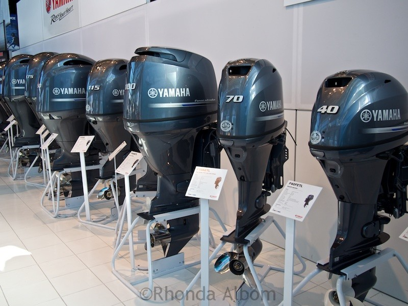 Engines at the Auckland on the Water Boat Show 2015 - New Zealand