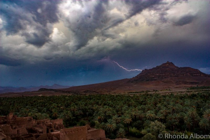 Lightning Over Jbel Kissane, Atlas Mountains, Morocco