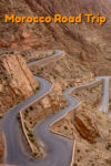 A windy road through a gorge is one of the sites in a Moroccan road trip. #travel #morocco #roadtrip
