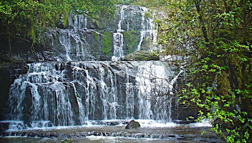 Purakaunui Falls in the Catlins Rainforest, South Island, New Zealand