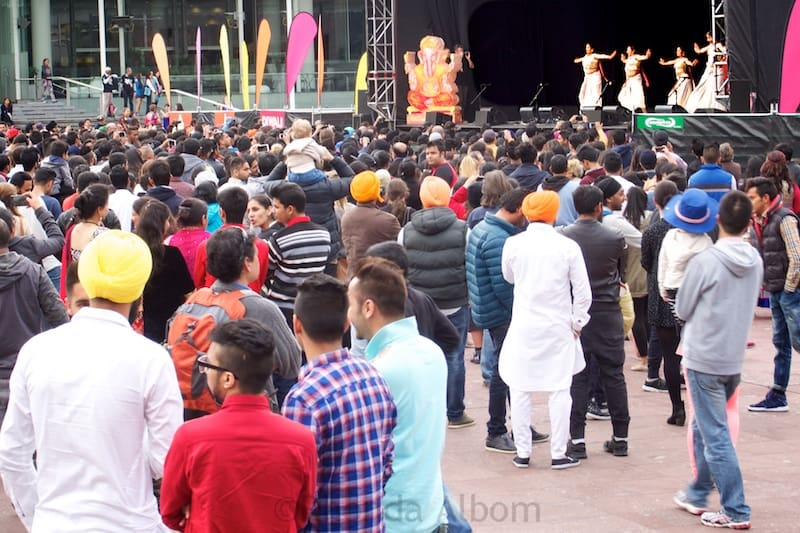 First view of the dancing at Auckland Diwali Festival 2015 in New Zealand