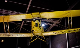 This Tiger Moth biplane designed by Geoffrey Havilland greeted us as we entered the Aviation Display Hall of MOTAT in Auckland New Zealand