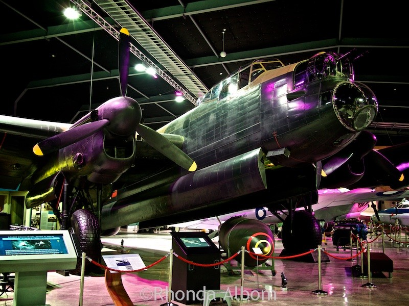 Lancaster Bomber on display at he Aviation Display Hall of MOTAT in Auckland New Zealand