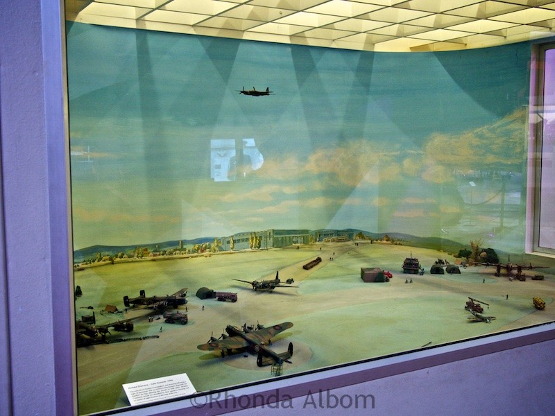 Diorama on display at he Aviation Display Hall of MOTAT in Auckland New Zealand