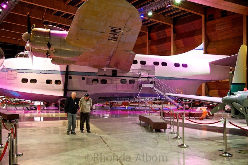 One of there Solent Class Mark IV Flying Boats remaining in the world on display at he Aviation Display Hall of MOTAT in Auckland New Zealand