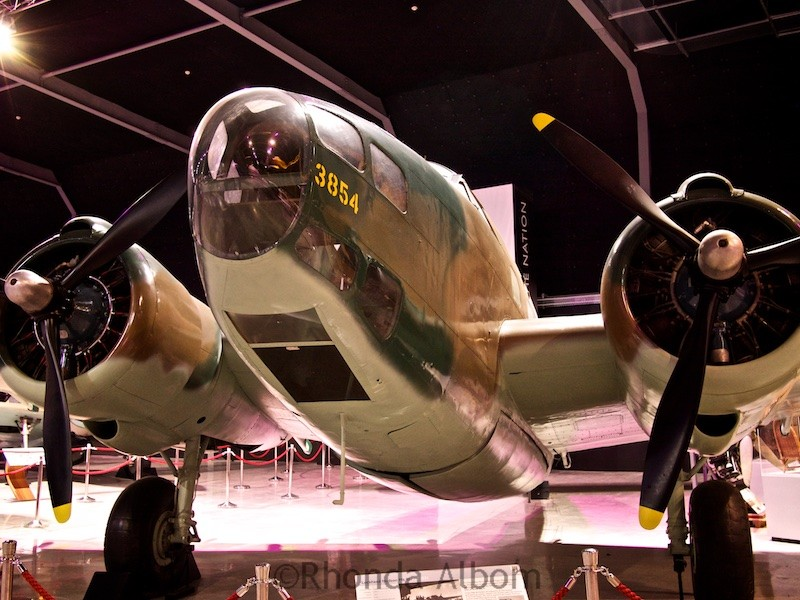 Lockheed Hudson Mark III used as reconnaissance bomber on display at he Aviation Display Hall of MOTAT in Auckland New Zealand