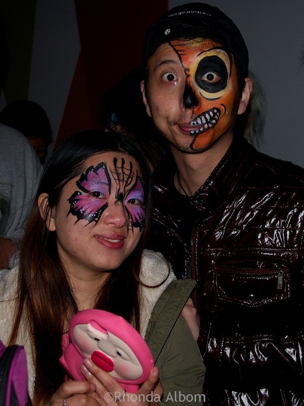 Costumed guests at the Halloween festival at MOTAT in Auckland New Zealand