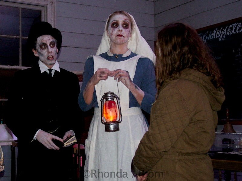Actors at the Danse Macabre (Dance of Death) at The Olde Hallows Eve festival at MOTAT in Auckland New Zealand
