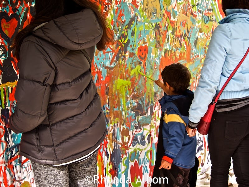 Painting at Auckland Diwali Festival 2015 in New Zealand